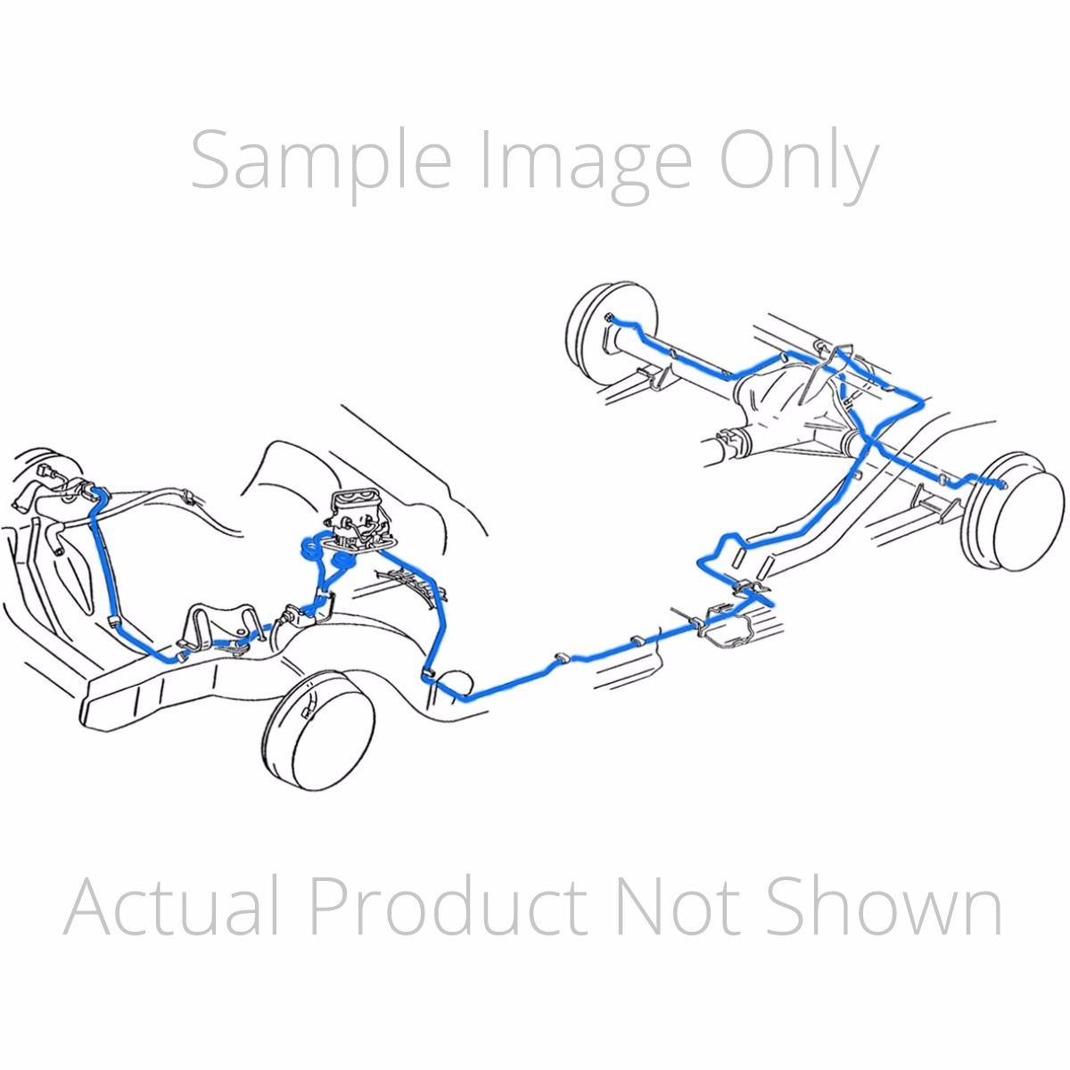 1978-80 chevrolet camaro z-28 (only) manual disc brake line kit ...  inline tube