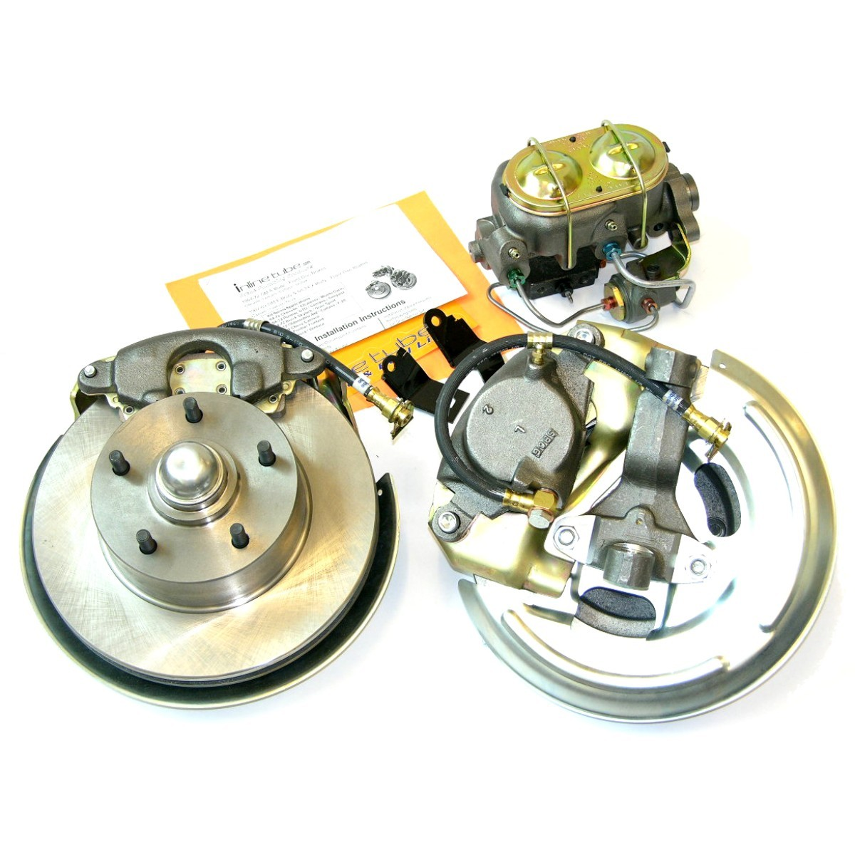 1969 GM F Body Camaro Single Piston Manual Disc Brake Conversion Kit