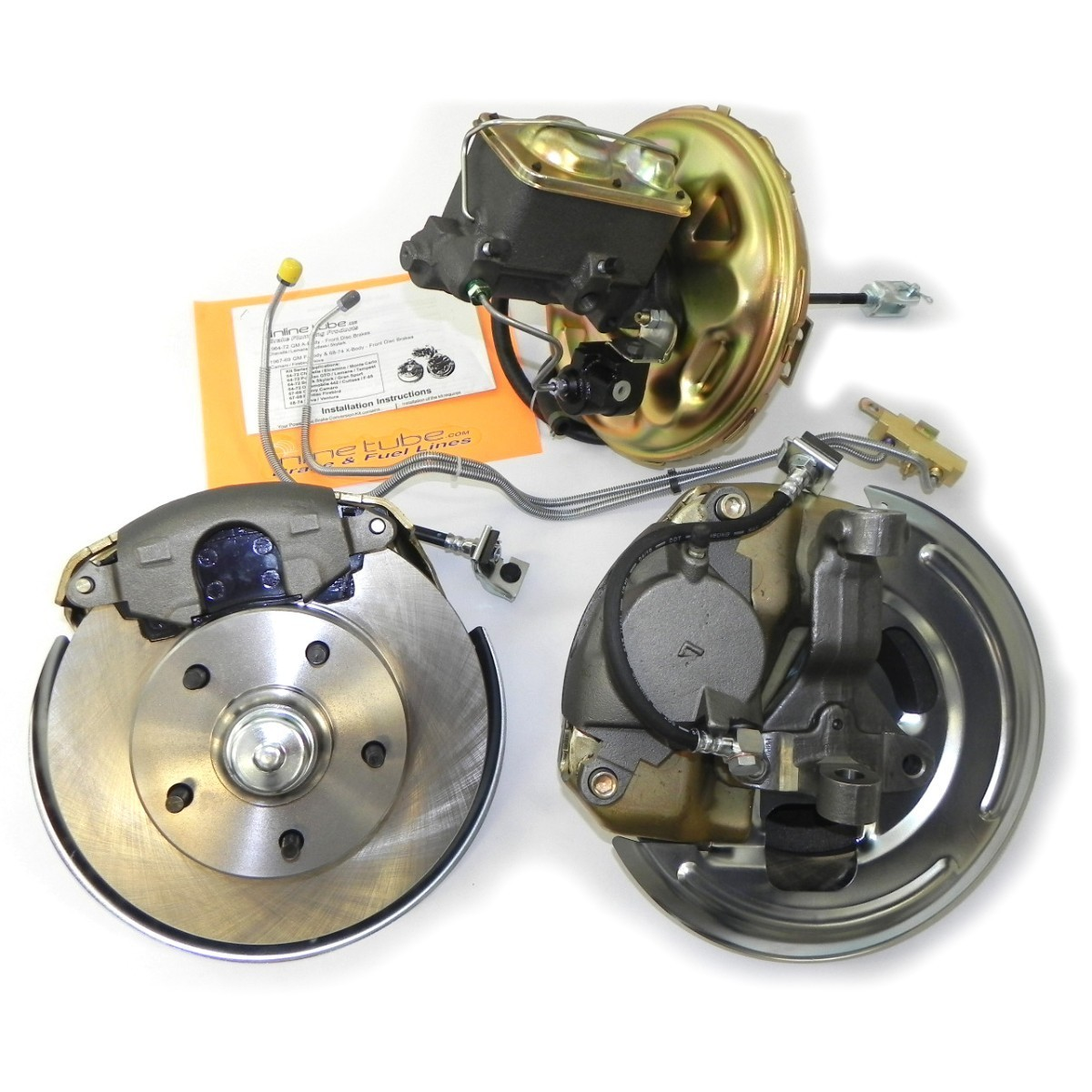 STEEL 68 CHEVY CHEVELLE SS EL CAMINO SS STANDARD DRUM BRAKES; FRONT 4 LINE SET