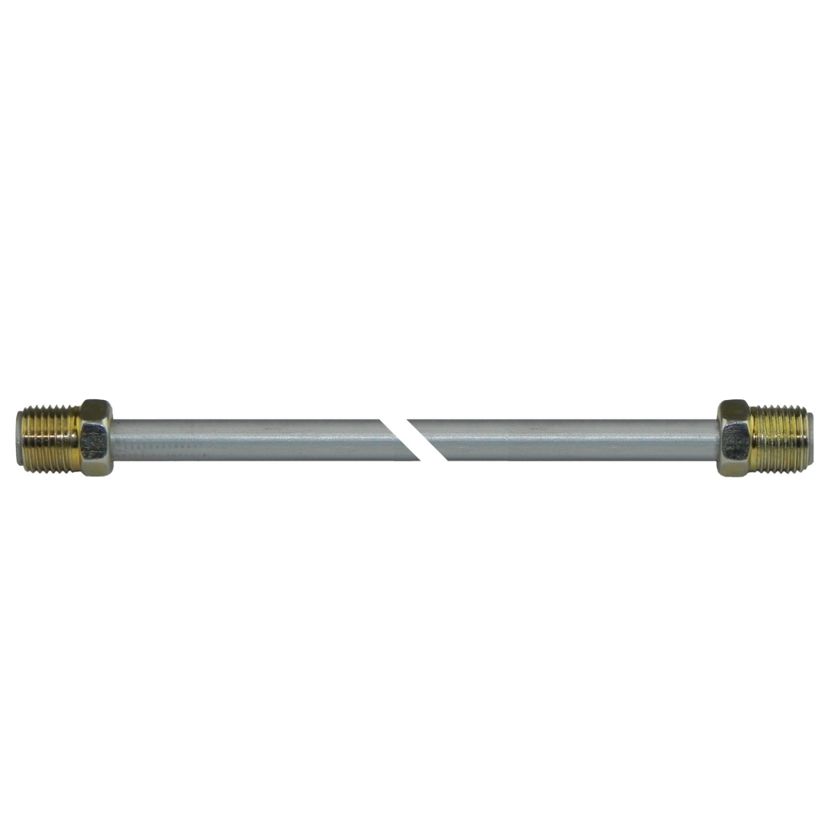 """3//16/"""" Brake Line 8 INCH STAINLESS STEEL 3//8-24 Tube Nuts 45 Degree Double Flare"""