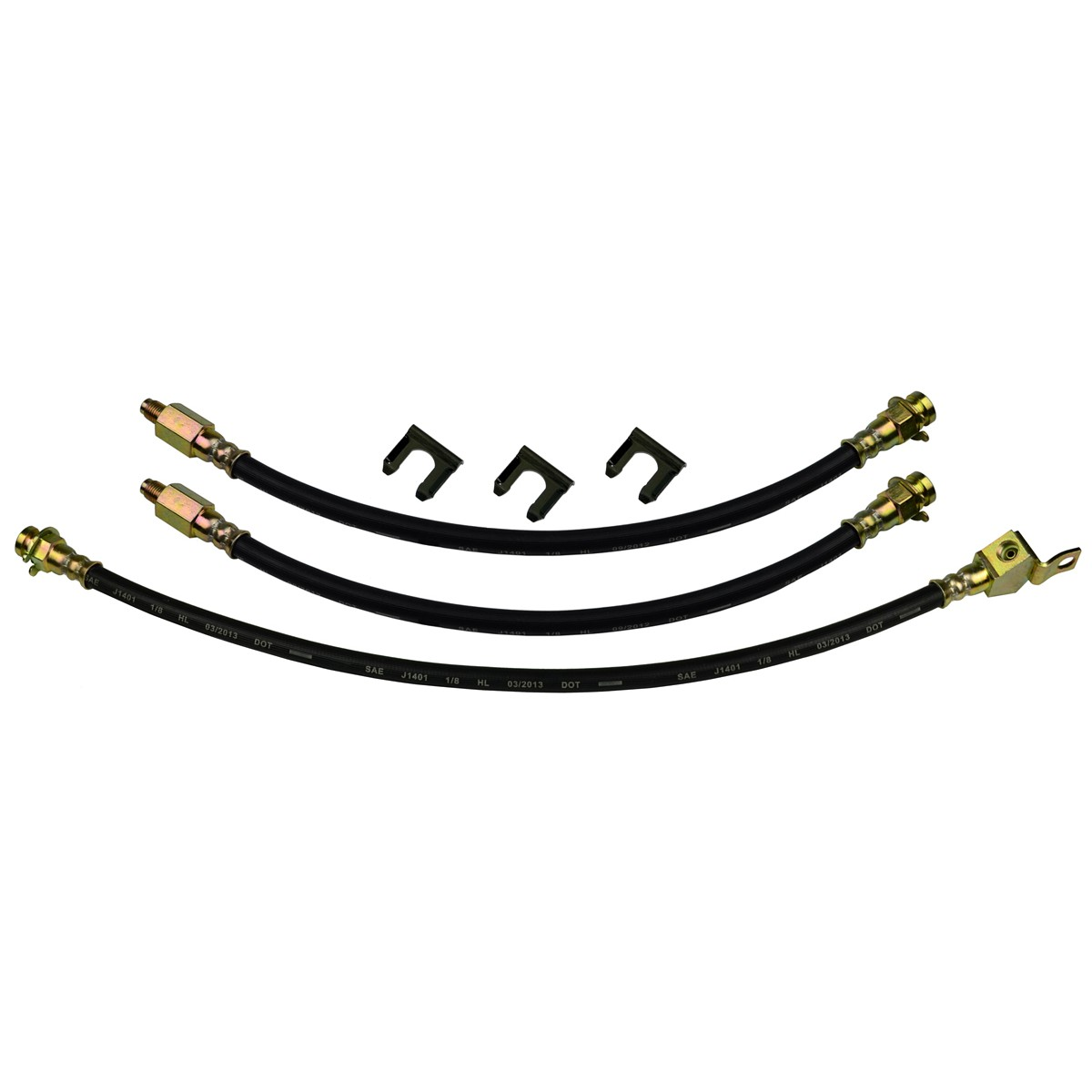 64 Ford Thunderbird Front Rear Drum Brake Rubber Flex Hose Line Set Kit