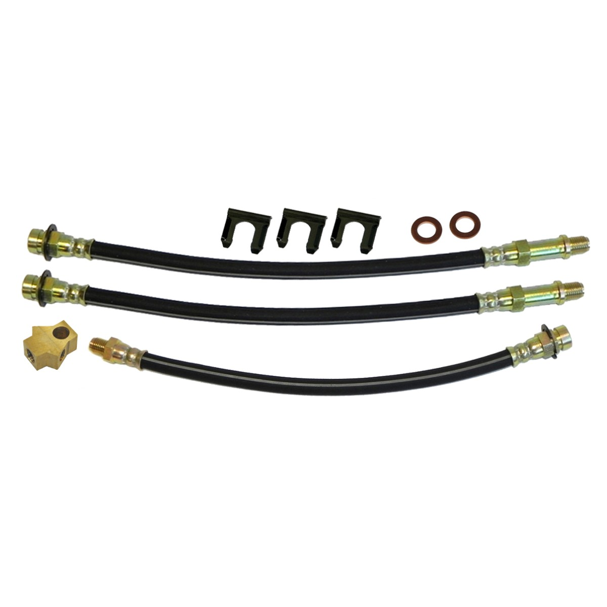 1966-69 Mopar B-body Drum Brake 3 Hose Kit, 8 3/4